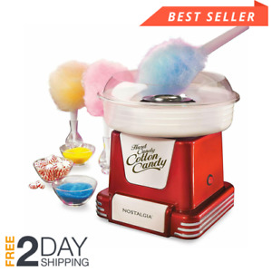 Commercial Nostalgia Cotton Candy Machine Maker Electric Floss Carnival Party