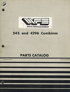 White 545 4296 Combine Parts Manual new