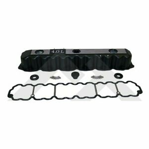 Aluminum Valve Cover Kit 1993 2004 Jeep 4 0l 6 Cyl With Gasket Hardware Black