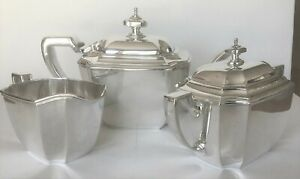 Tiffany Co Sterling Silver Tea Set Hampton Pattern Excellent Condition
