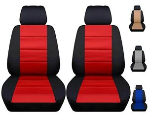 Front Set Car Seat Covers Fits 2008 2020 Chevy Silverado Black And Red