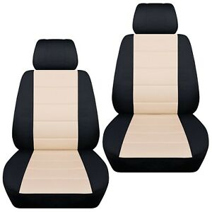 Front Set Car Seat Covers Fits Ford Escape 2005 2020 Black And Sand