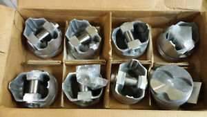 305 Chevy Forged Dome Pistons L2468f Standard Bore Set Of 8