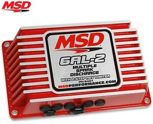Msd 6421 6al 2 Ignition Box Digital W Built in 2 Step Sbc Bbc Sbf Chevy Ford