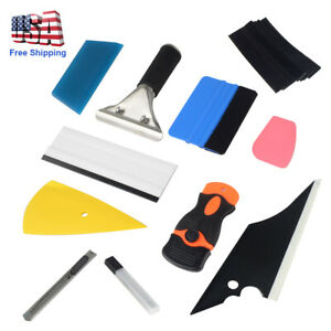 New 11pcs Car Window Tint Wrapping Vinyl Tools Squeegee Scraper Applicator Kits