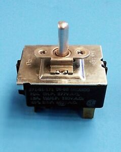 Dryer Temperatur e Selector Switch For Cissell P n 271 91 171 ih