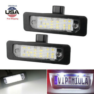 1 Pair Car 18 Led License Plate Light Lamp For Ford Mustang Fusion Flex Taurus