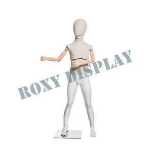 Kid Full Body Mannequin Movable Arms Dress Form Display mz kflx01