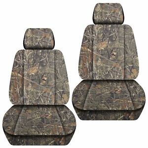 Front Set Car Seat Covers Fits 2005 2020 Toyota Tacoma Camo Wetlands