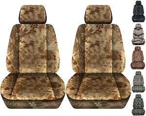 Front Set Car Seat Covers Fits 2005 2020 Toyota Tacoma Kryptec Charcoal