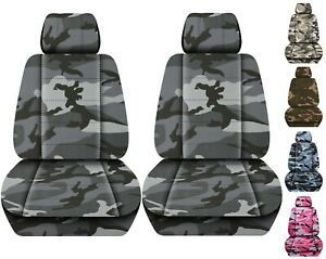 Front Set Car Seat Covers Fits 2005 2020 Toyota Tacoma Camo Gray