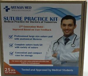 Complete Suture Practice Kit For Suture Training 25 Pieces