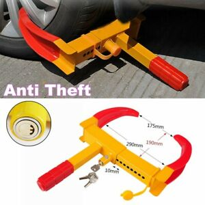 Wheel Tire Lock Clamp Parking Boot Anti Theft For Trailer Car Suv Motorcycle Us