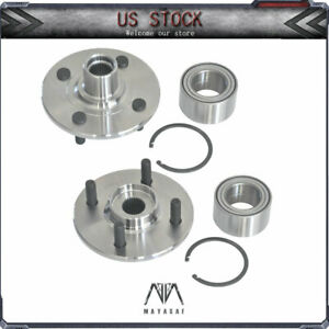 2x Front Wheel Bearings Hubs For 94 02 Saturn Sc1 Sc2 Sl Sl1 Sl2 Sw1 Sw2 1 9l