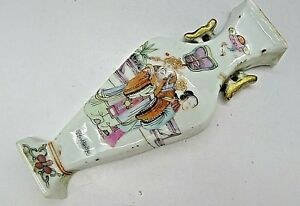 Chinese Rare Antique Famille Rose Wall Pocket Vase Estate Find Must See C 1880