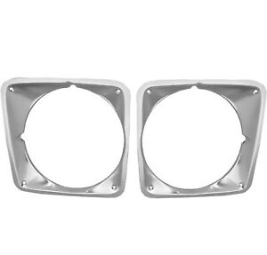 1969 1972 Chevy Pu Pickup Truck Headlight Bezels Pair Right Left Side 2 Pcs
