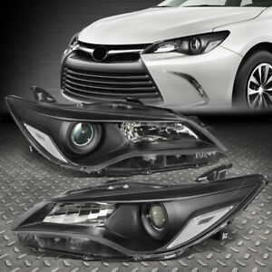 For 15 17 Toyota Camry Black Housing Clear Corner Projector Headlight Head Lamp