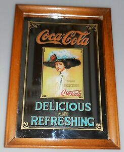 Vintage Coca-Cola Mirror Delicious and Refreshing Coca Cola England