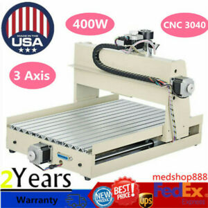 3axis 3040 Routers Cnc Engraving Machine Kit Drilling Milling Engraver 400w Usa