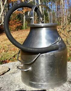 Delaval Stainless Dairy Milk Pail Can Bucket W handle Lid Hose Farm Industrial