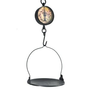 Large Antique Style General Store Grocery Produce Candy Hanging Weighing Scale