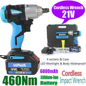 6000mah Electric Brushless Cordless Impact Wrench Hand Drill 2li ion Torque Tool