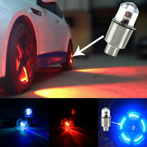 4 car Wheel Tyre Led Lights Tire Air Valve Stem Caps Cover Dragonfly Bulb Lamp