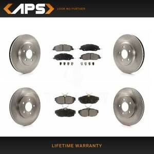 Front Rear Ceramic Brake Pads Rotors For 2011 2014 Ford Mustang Rwd V6 3 7l