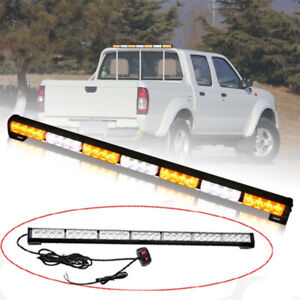 31 28 Led Amber White Emergency Hazard Flash Strobe Light Bar Traffic Advisor