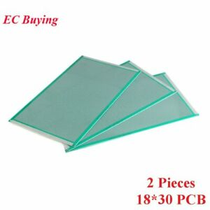 2pcs 18x30cm Double Side Prototype Universal Printed Circuit Pcb Board 2 54mm