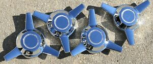 New Set Of 4 Tru spoke Chrome Wheel 3 Bar Spinner Center Cap Cragar Truespoke