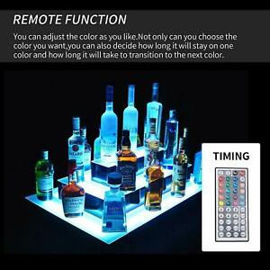 31 3 Layer Island Liquor Bottle Display Shelf Led Lighted Color Changing W rc