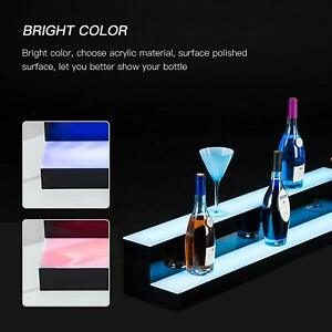 30 2 Layer Illuminated Led Liquor Bottle Display Shelf Color Changing With Rc