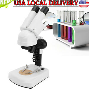 40x Portable Binocular Stereo Microscope Led For Pcb Repairing Soldering Tool