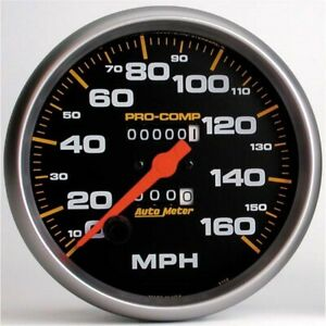 Autometer 5154 Pro comp Mechanical Speedometer 160 Mph 5 Inch