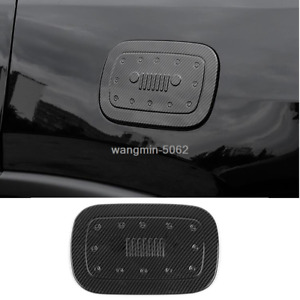 For Jeep Grand Cherokee 2011 18 Carbon Fiber Style Gas Cap Fuel Tank Cover Trim