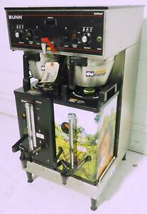 Bunn Dual Sh Satellite Coffee Brewer Hot Water W 2 Soft Heat Urns Nsf