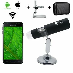 1000x Wifi Usb Digital Magnifier Microscope Camera For Ios Android Stand Bag