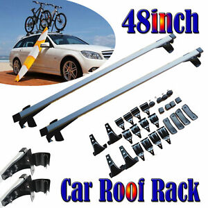 48 Car Top Roof Rack Bar For Snowboard Kayak Canoe Cargo Carrier For Prius