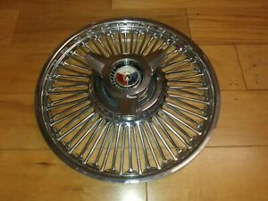 14 1964 Ford Galaxie Oem Spinner Type Wire Hubcap Wheelcover 1 Used Original