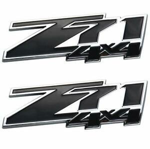 2x Small Size Z71 4x4 Emblem 3d Badges For Chevy Silverado 2pack Black