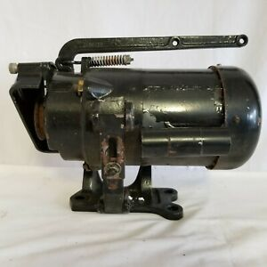 Antique Commercial Sewing Machine Electric Motor Clutch brake 1 2 Hp 120 240v