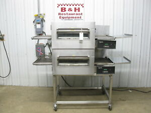 Lincoln Impinger 1132 Conveyor Double Deck Stack Pizza Oven W 18 Belt