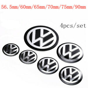 4x 56 65 75 90mm Car Wheel Center Hub Caps Emblem Stickers For Vw Volkswagen