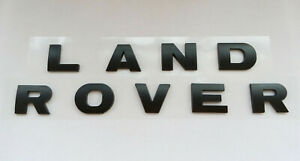 Land Rover Black Matte 3m Letters Hood Or Trunk Tailgate Emblem Badge Nameplate