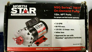 Northstar Nsq Series 12v On demand Diaphragm Pump 7 Gpm Turns Off 60 Psi