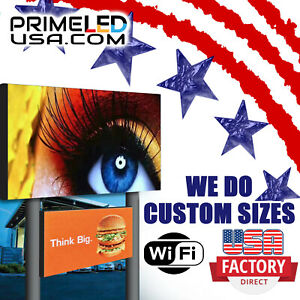 Double Sided Led Sign Full Color P10mm Outdoor indoor 19 H X 50 25 W Wifi