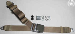 Three Point Seat Belt Mg Mga Mgb Td And Others Beige Chrome New Retro