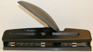 Swingline 3 Hole Punch W Light Touch Lever Built In Ruler Adjustable