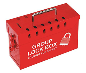 Lockout Safety Supply 7299r un Group Lockout Tagout Box Portable Steel Red